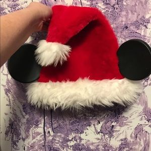 Mickey Mouse Santa clause hat